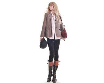 Ralph Lauren jacket chevron blazer riding jacket equestrian jacket herringbone blazer cotton blazer vintage women's clothing Deadstock nwt s