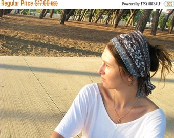 Floral head scarf, double sided  special hair scarf, hair covering,hair wrap, hair accesory