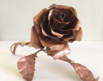 Copper Rose with leaves