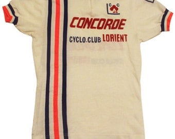70's vintage Concorde cycling jersey made in France
