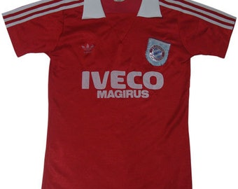 80's vintage bayern munchen adidas football shirts made in west germany