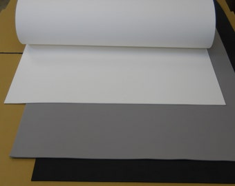"5mm 26"" x 39"" EVA Large sheet (26"" x 39"") foam in black, white or grey color."