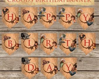 The Croods Custom Birthday Banner! Digital Download! Printable Birthday Banner!