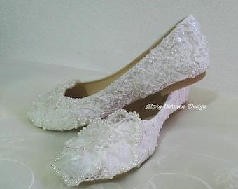 Ballet Flats, Wedding Flats, bride shoes, First Communion, christening shoes, valerinas para novia, zapatos boda,
