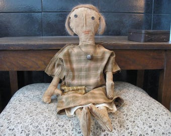 Primitive Doll Cora Lee, OOAK, Primitive Dolls, Primitive Folk Dolls, Primitive Rag Dolls