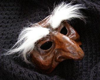 Theatre mask Masquerade mask Pantalone mask Scary mask Half face mask Halloween mask Party Paper mache mask