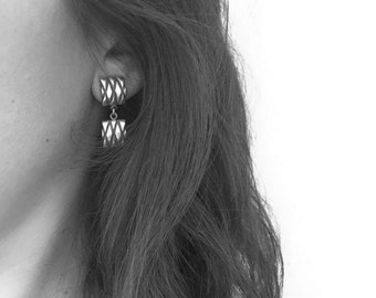 "Earrings  ""Capitoné"" Collection - Sterling Silver"