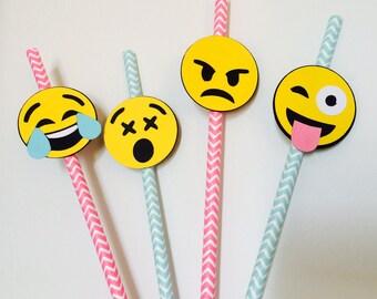 Emoji Paper Straws