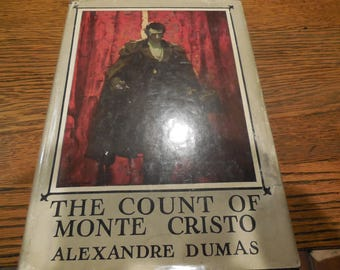 EXRARE Circa 1920 The Count Of Monte Cristo by Alexander Dumas Edmund Dantes Revenge Clean Book Dust Jacket