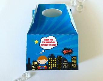 Superhero treat boxes