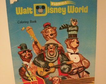 Fabulously Vintage 1971 A Visit to Walt Disney World Coloring Book by Whitman