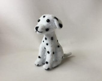 Felted Dalmatian, Dalmatian Toy, Dalmatian Collectible, Felted Dog, All Handmade, Ready to Ship