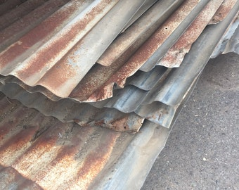 Galvanized metal sheets - Salvaged Barn roof - roofing from old Farms in Fresno County California