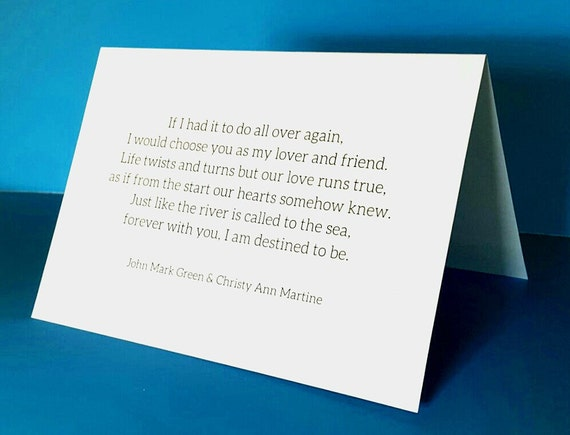 Anniversary Cards for Husband or Wife - Lover and Friend Poem by Christy Ann Martine - Romantic Card