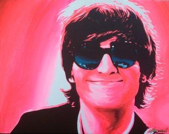"Giclee Cavas Print *embellished - ""John Lennon Smile"""