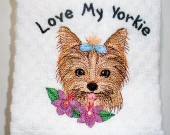 "Yorkie Towel, Yorkie Gift, Yorkie Owner Gift, Yorkie Decor, Yorkie Lover, Dish Towel, Hostess Gift, Yorkshire Terrier  ""Prince or Princess"""