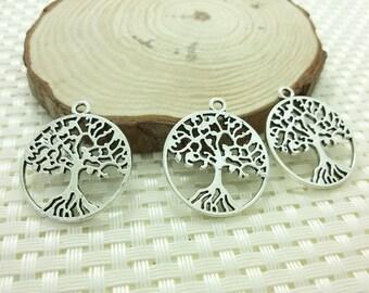 25 pcs  Life Of Tree pendants   , Life of Tree charms  29 mm x 26 mm