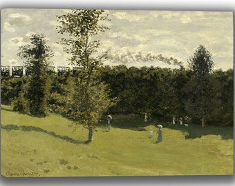 Claude Monet: Train in the Countryside. Fine Art Canvas. (04074)