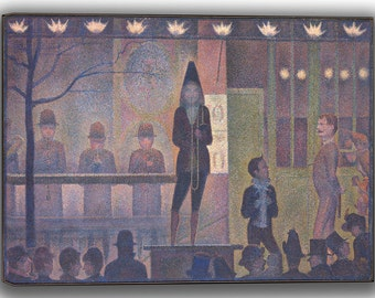 Georges Seurat: Circus Sideshow. Fine Art Canvas. (04149)