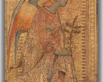 Simone Martini: The Angel of the Annunciation. Fine Art Canvas. (04165)