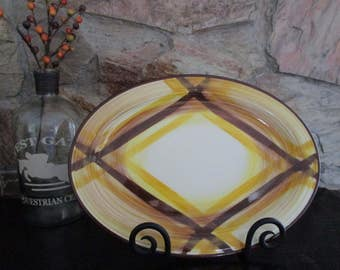 Vernonware Organdie Oval Ironstone Platter