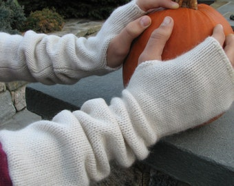 Cashmere Arm  Warmers - Repurposed Cashmere - Upcycled