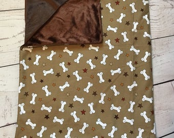 Personalized Pet Blanket,Dog Blanket,Crate Blanket,Brown Pet Blanket,Blanket for Puppies,Lightweight Blanket