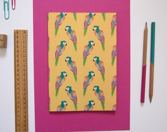 A5 Notebook / Parrot Notebook / Back to School / Cute Stationery / Exercise Book / Tropical Stationery / Cute Notebook