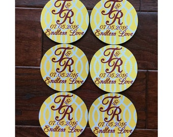 Wedding Favor Coasters, Wedding Favors for Guests