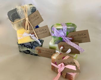 Soap samples, soap stack, soap variety pack, soap bundle, wedding favour, guest soap, cold process, birthday gift, natural soap stack, soap