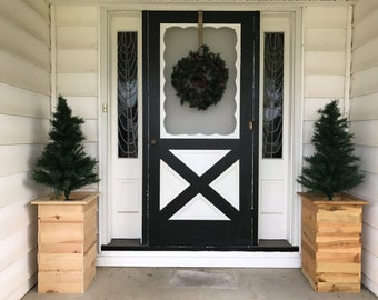 Cedar Planter, Rustic Planter, Wood Planter