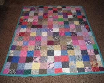 Scrappy Patchwork Quilt - Throw Size Quilt
