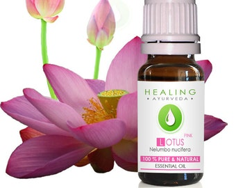 Pink Lotus- 100% Pure Lotus flower essential oil-Nelumbo nucifera-Sacred Louts Oil-Spiritual oil-Healing oil-Aromatherapy (Undiluted)-Chakra