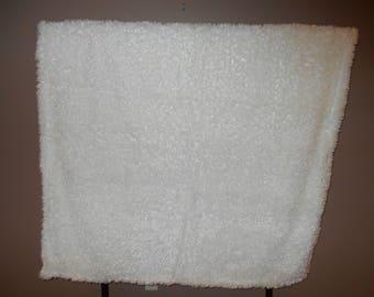 Off White Alpaca Faux Fur Blanket--Full size