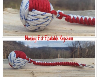 Red, White and Blue Floatable Boat Keychain