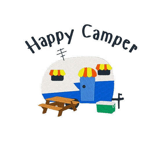 Camper Embroidery Design