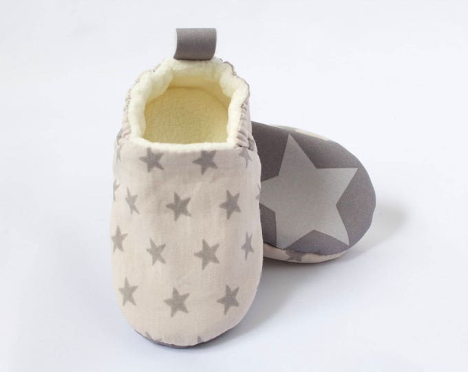 sole stars, baby boy shoes/moccs