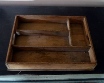 Vintage Wooden Cutlery Tray