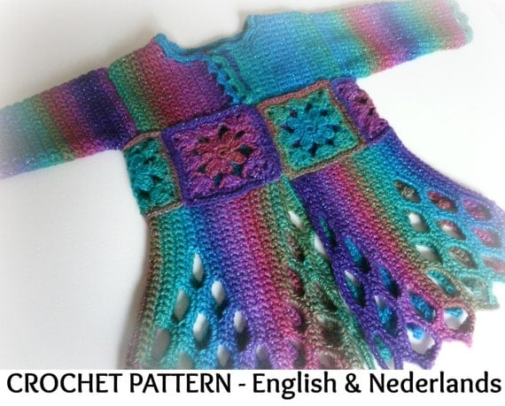 Crochet Patterns In English : English Dutch version Crochet Pattern Baby Party Cardigan