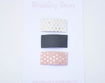 Leather Snap Clips