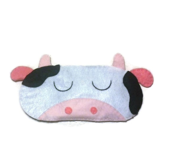 masque pour les yeux masque de sommeil vache masque de nuit. Black Bedroom Furniture Sets. Home Design Ideas