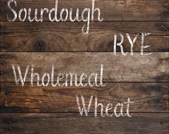 Personalized Baking - Bread Stencils  Kitchen, Cook wear, Flour