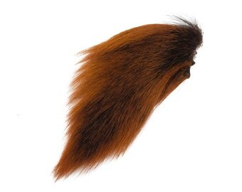 1 (one) dyed Deer Tail : Burnt Orange