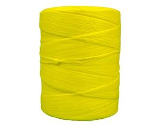 544 Yard Spool of Yellow  1/8th wide 70 lb test Imitation Sinew