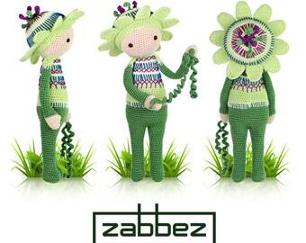 "Crochet pattern amigurumi doll ""Passionflower Paz"" PDF"