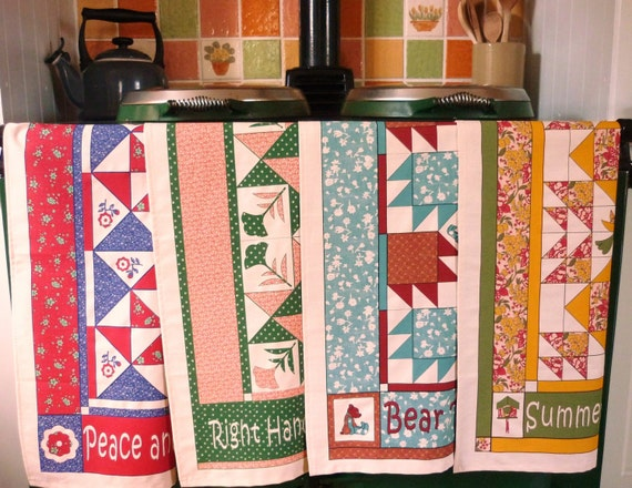 Printed Patchwork Patterned Tea towels