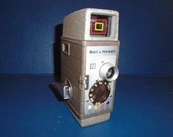 Bell & Howell 323 Camera .  8 mm Movie camera.  Movie camera.  Bell and Howell .   Bell Howell camera