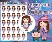 Chibi Planner Sticker, Cleaning Sticker, Hand Drawn Sticker, Girl Planner Sticker, House Chores Sticker - 389