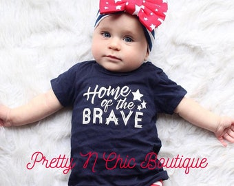 Stars and Stripes Bow Headwrap - Patriotic Bow Headwrap