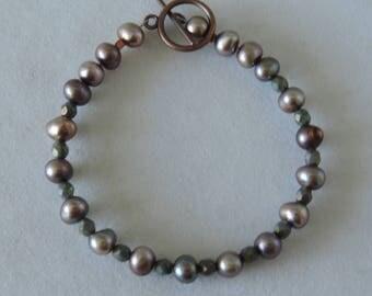 Taupe Pearl Bracelet, Beige Bracelet,  Skintone Bracelet,